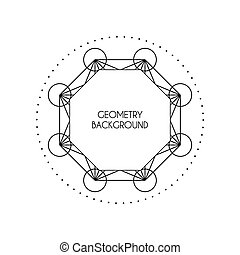 Vector Magic Geometry Background - Linear geometry...