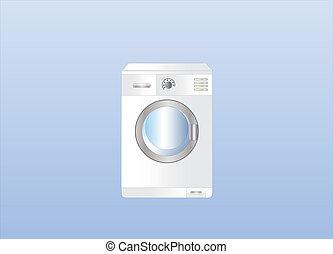 washing machine on light background