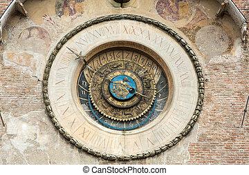 The Palazzo della Ragione with the Torre dell'Orologio...