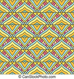 Colored stripped pattern - Seamless pattern with handdrawn...