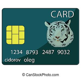 Bank card on white - Plastic bank card on white background...