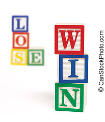 Win Lose Alphabet Blocks Vertical - Wooden alphabet blocks...