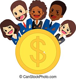 Successful Business Team - Group of successful business team...