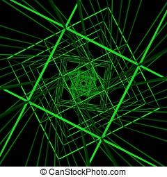 Technology Green Cyberspace Illustration