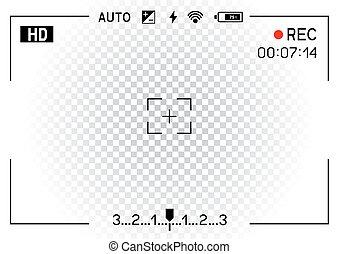 camera viewfinder transparent background - Camera viewfinder...