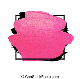 Vector creative pink banner. Brush stroke for you amazing design project. Watercolor texture paint stain.
