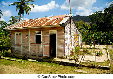 Wodden house - Classical caribbean wooden house. Dominican...