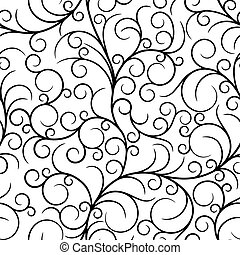 Seamless from swirls - Black seamless from abstract...