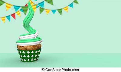Cake Patrick's Day - Animated 3D cake with candle and the...