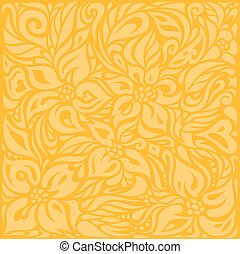 Yellow colorful floral wallpaper background  pattern