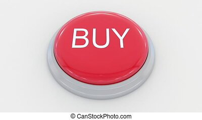 Pushing big red button with buy inscription.