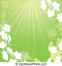Vine on a green background Clipping Mask