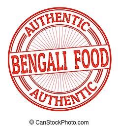 Bengali food sign or stamp - Bengali food grunge rubber...