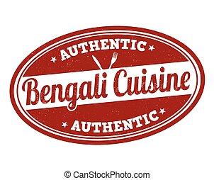 Bengali cuisine sign or stamp - Bengali cuisine grunge...