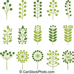 Set of colorful leaves, vector illustration