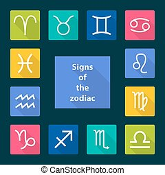 Signs of the zodiac, vector illustration
