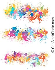 Elements  for design from paint stains