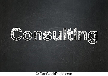 Business concept: Consulting on chalkboard background