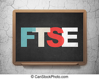 Stock market indexes concept: FTSE on School board...