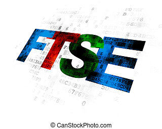 Stock market indexes concept: FTSE on Digital background