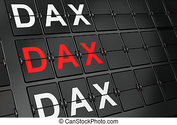 Stock market indexes concept: DAX on airport board...