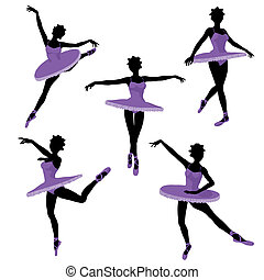 African American Ballerina Illustration Silhouette - African...