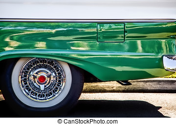 Very Cool Wagon - The rear end of a classic American car in...