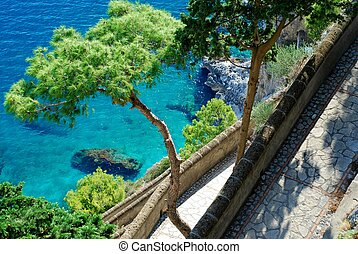 Via Krupp at Capri Island