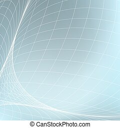 Abstract geometric background. Curves diverging fine lines...