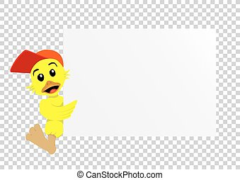 duck paper transparent - Animal duck which holds clear white...
