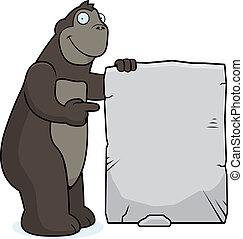 Gorilla Sign