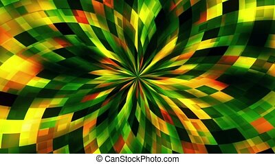 Abstract flower in green and orange