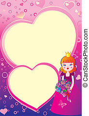 Valentines Day. - Princess in love on the background of...