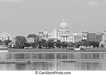 Pennsylvania state capital - Harrisburg panorama with state...