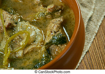 Stewed Mutton Medieval - Hericot of Mutton.