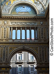 Gallery Umberto Uno in Naples - View of the Galleria Umberto...