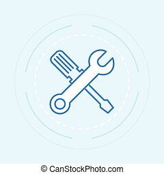 Tool outline - Icon outline tool. Vector illustration