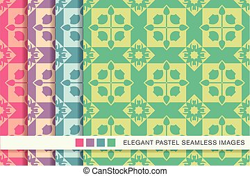seamless pastel background set square cross geometry