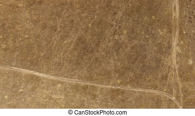 Steppe with a bird's-eye view - Steppe aerial view resembles...