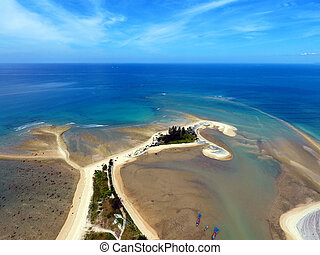 Aerial photo of cape and sea in Khao Lak - Aerial photo of...