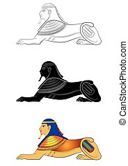 Sphinx - mythical creature of ancient Egypt - Illustration...