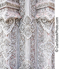 Beauty stucco in the traditional Thai style.