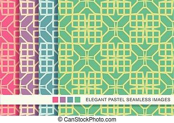 seamless pastel background set square cross geometry