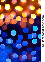 Magical Lights - Holiday background with blurred sparkling...
