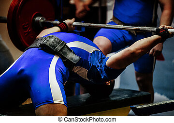 male athlete powerlifter competitions bench press
