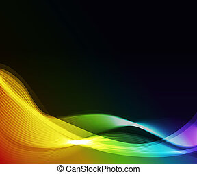 abstract wave,eps10 format  - glowing abstract background