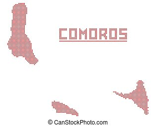 Comoros Africa Dot Map - A dot map of Comoros Africa...