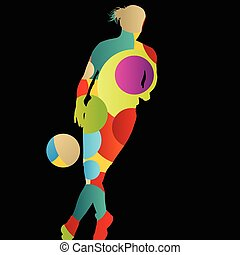 Basketball players active women sport silhouettes abstract background illustration