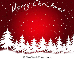 Merry Christmas card - Merry Christmas - greeting card (red...