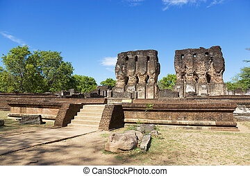 Royal Palace Ruins, Polonnaruwa, Sri Lanka - Image of the...